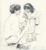 """""""Krinsh"""" with little Radha, 1934"""