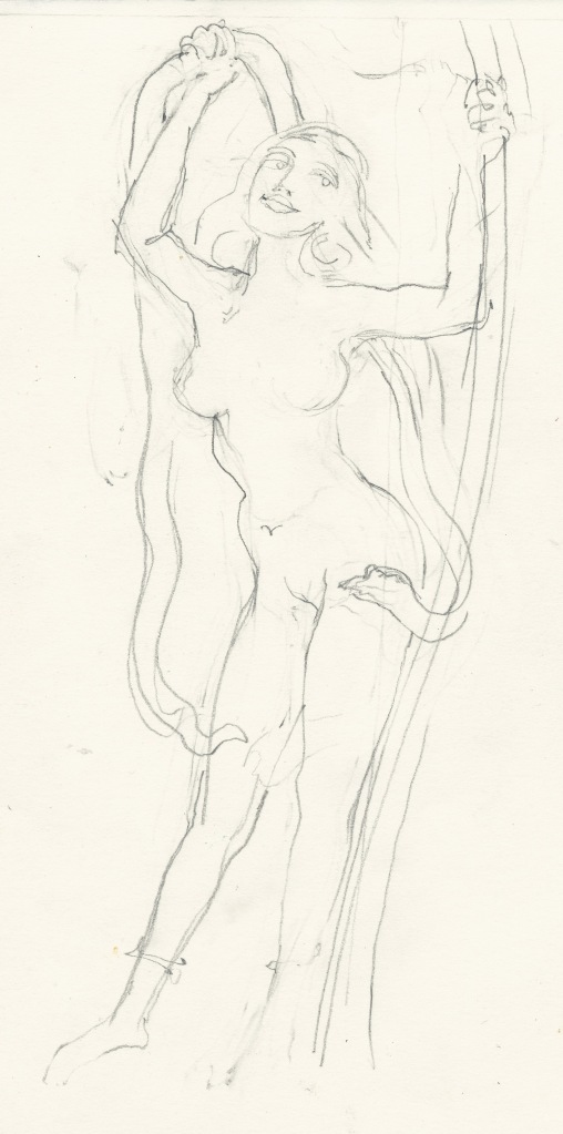 preliminary sketch - Rati queen of lotuses