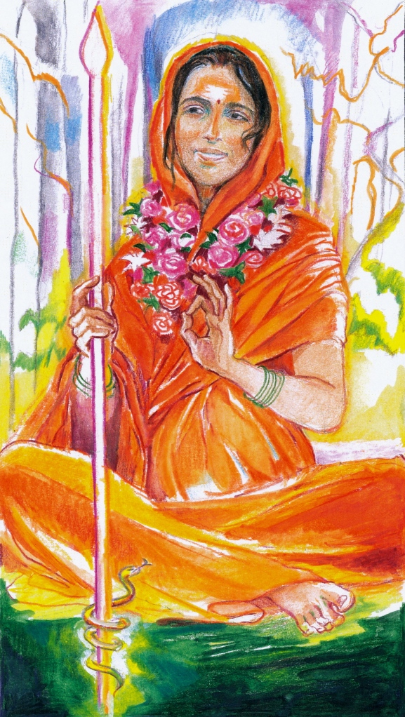 Sacred India Tarot Queen of Staves - Radha Ma Svaha
