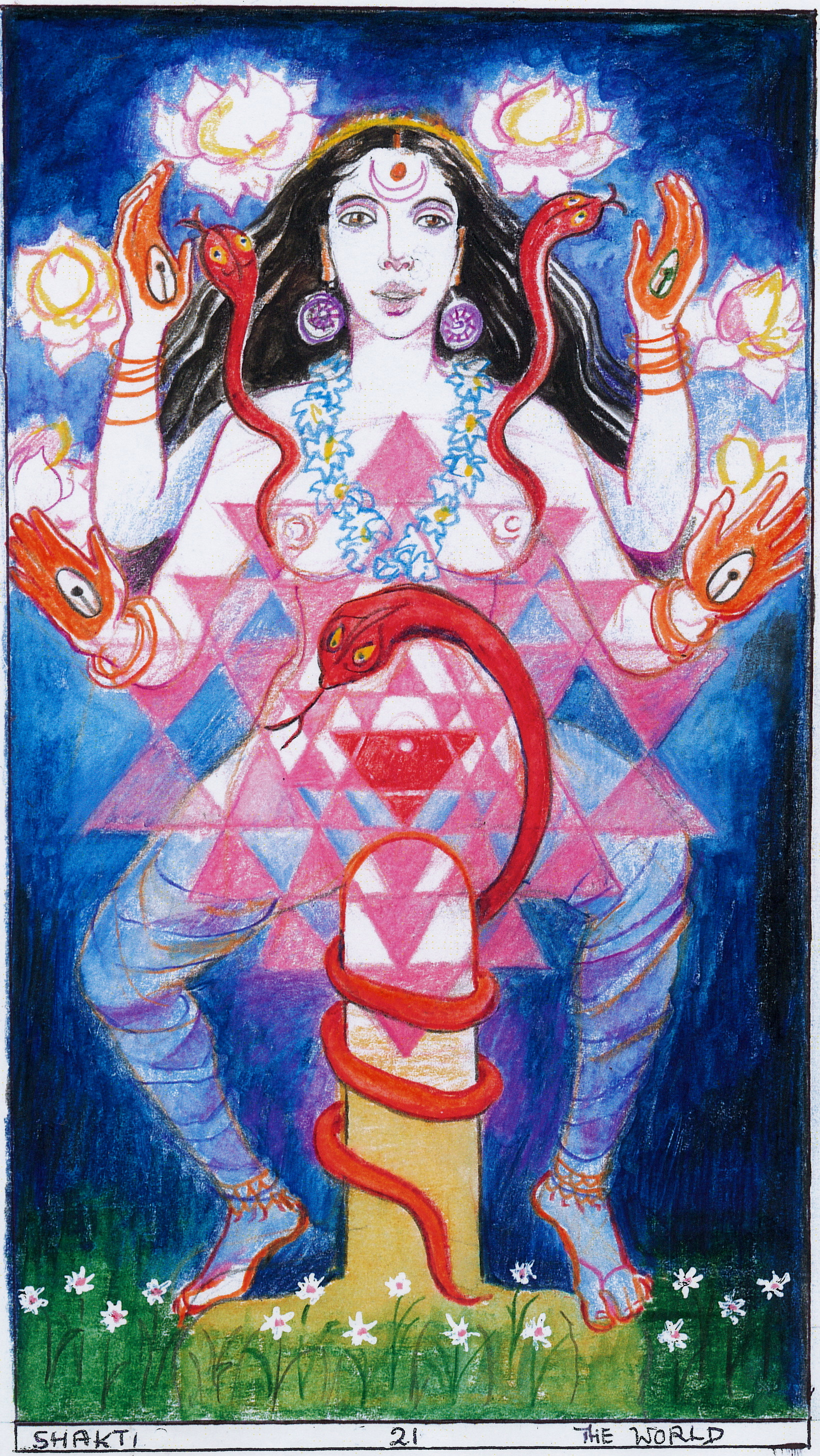 Sacred India Tarot world Shakti, 21