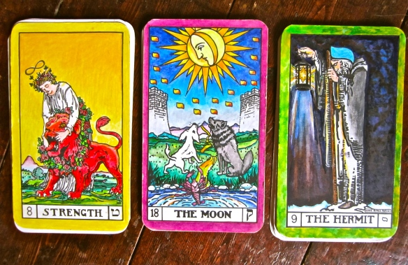 An oracle - Keys 9,18,8 - hermit, the moon and strength