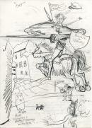 hero encounters adversary