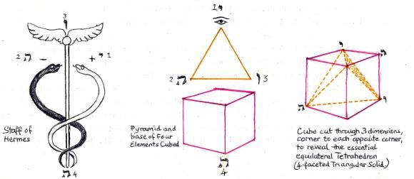2 staff & cube