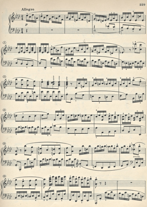 Allegro from the Funeral March Sonata opus 26