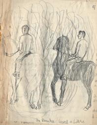 horses and riders, circa 1959
