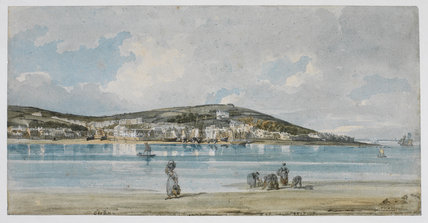 Instow sands looking across to Appledore - a Victorian painting
