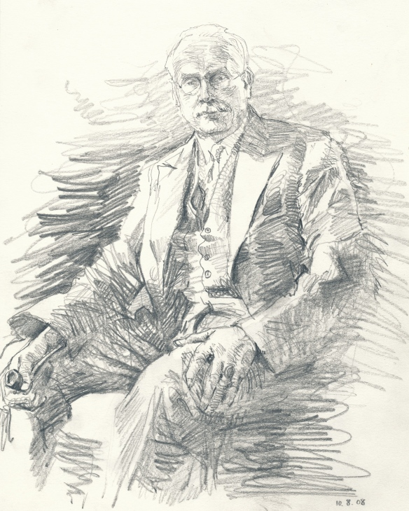 Jung with pipe