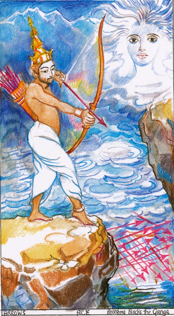 Sacred India Tarot - Ace of Arrows