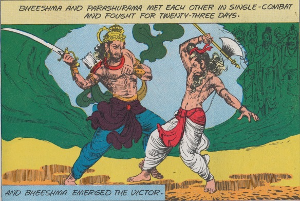 Visual reference from comic book, for SITA 2 of Arrows - Parushurama trains Bheeshma Parashuruma