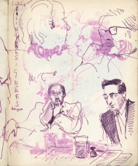 12 liverpool sketchbook 1968 - ray fields & lecturer