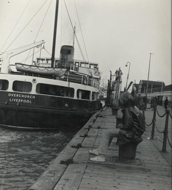 Ferry across the Mersey -  me on merseyside