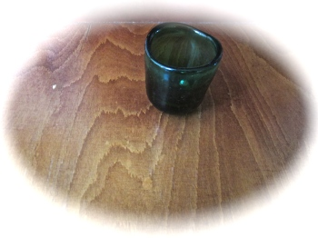green glass and wood flow