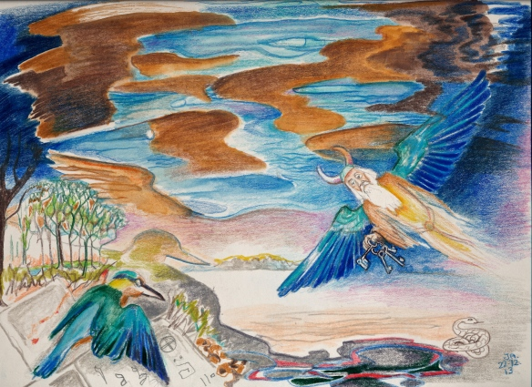 Impression of Jung's dream of Philemon in 1913