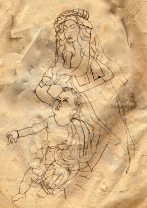 Madonna and child, 1956