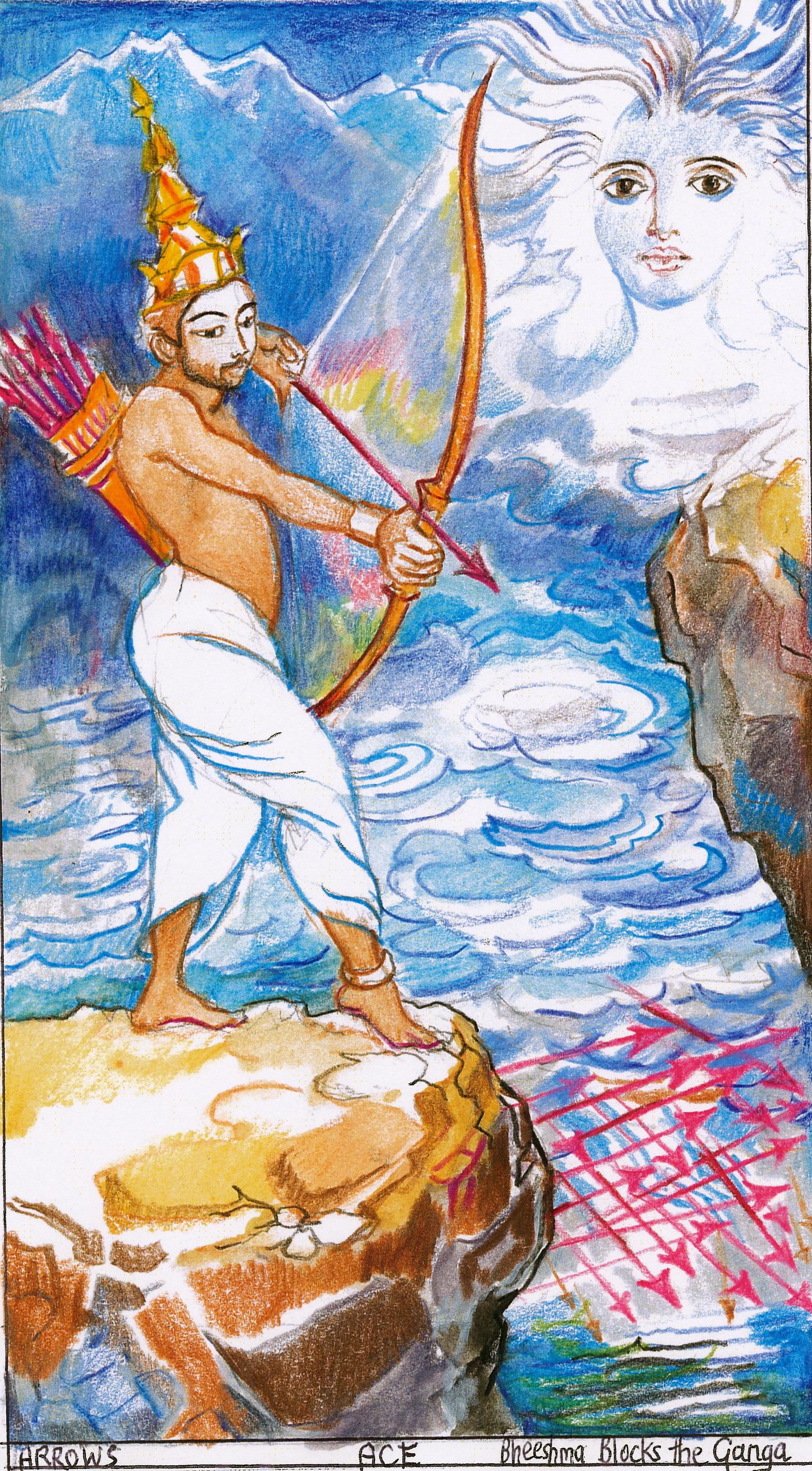 Sita Ace Arrows Bhishma Blocks The Ganga Janeadamsart