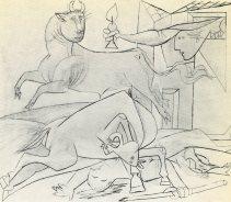 sketch for guernica