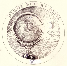 Atlas and Star Rosicrucean Emblem 10