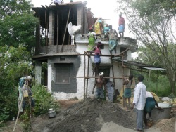 concreting Indian des res