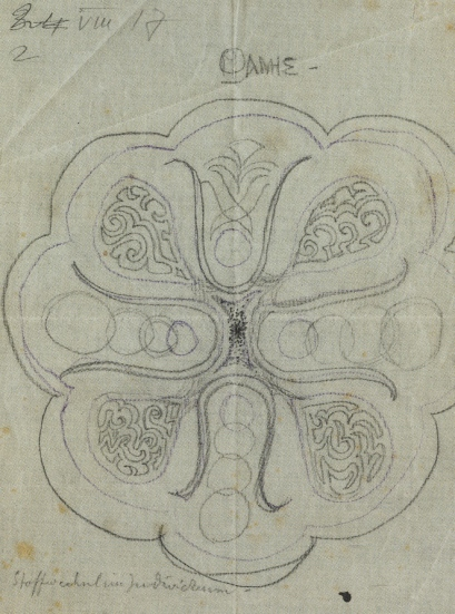 jung's red book, the 1st mandala sketch