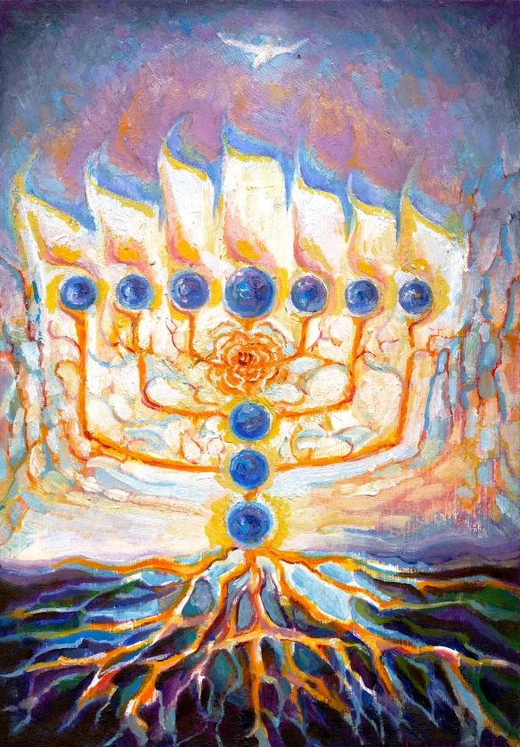 Menorah Tree of Sapphires