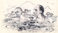 Ramana and Muni swimming