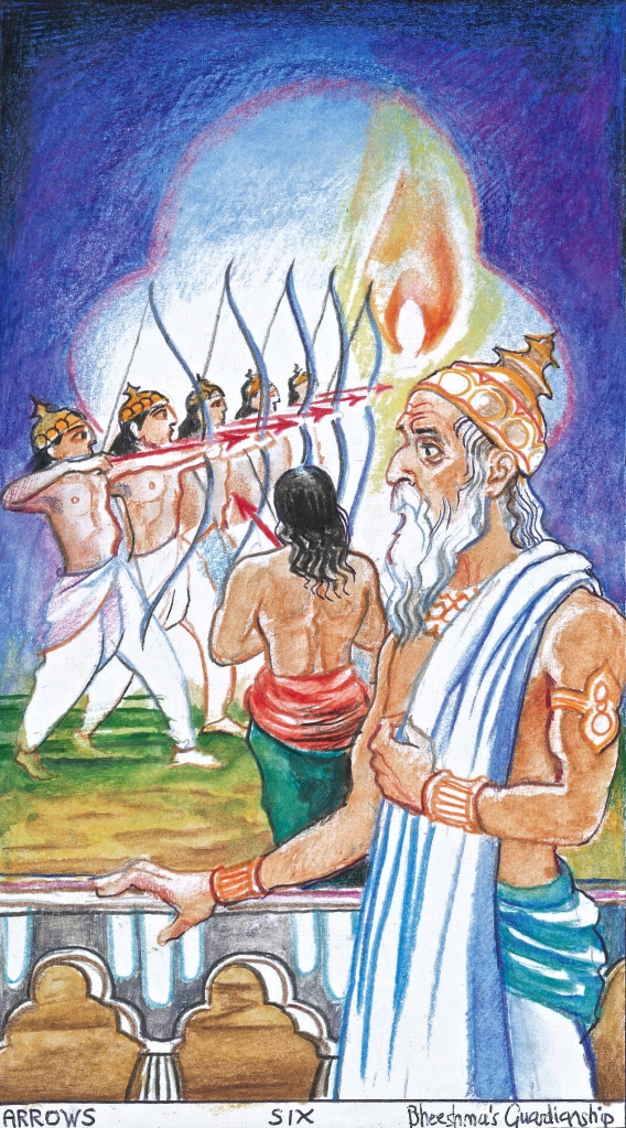 Sacred India Tarot Six of Arrows