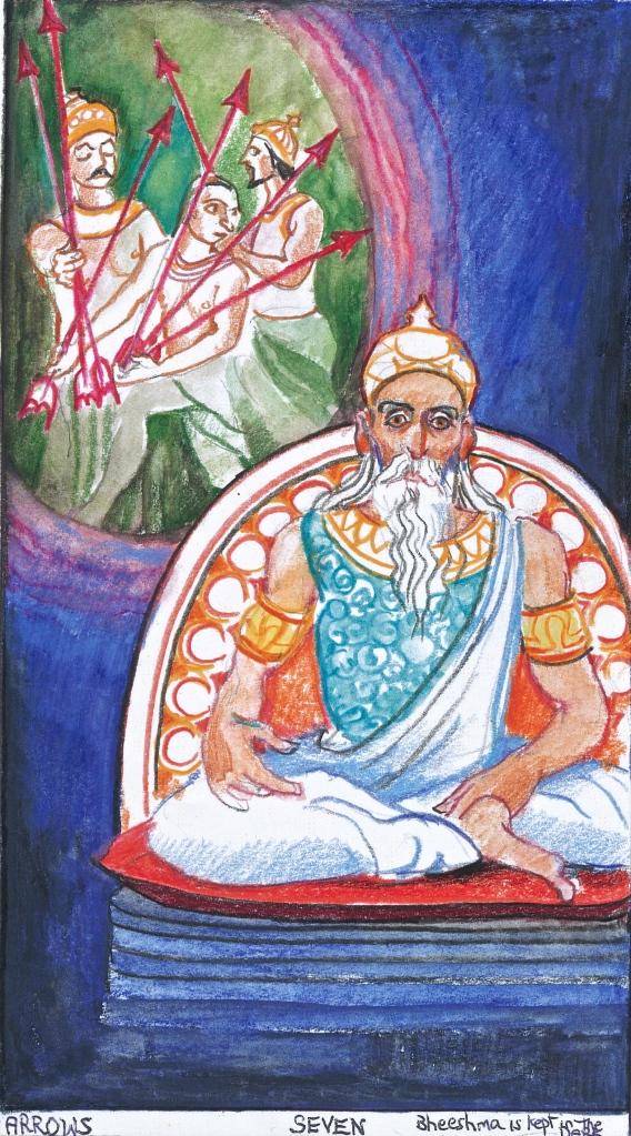 Sacred India Tarot - Seven of Arrows