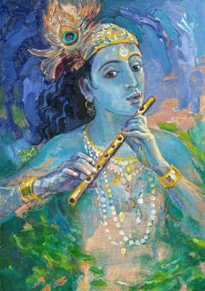 Krishna and Flute
