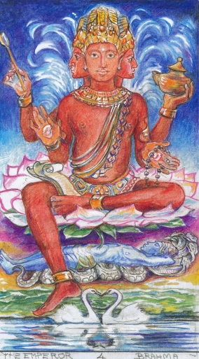 Sacred India Tarot 4 - Brahma