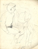 1 liverpool sketches 6, 1968, pencil