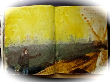 18 liverpool sketches 6, 1969, hitch hiker