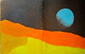 34 liverpool sketches 6, 1969, moon landing