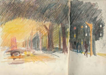 4a liverpool sketches 6, 1969, evening