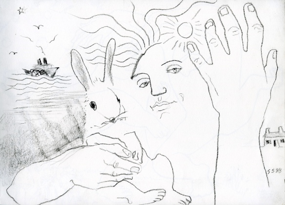 Angel with rabbit, 1988