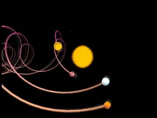planetary spiral around moving sun - Naseem Haramein
