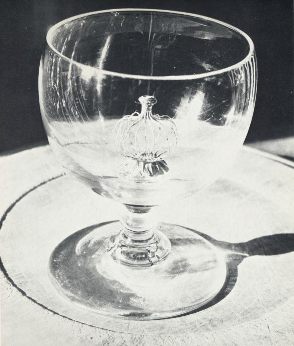 "poppy pod in drinking-glass - from ""A Way of Life"" by Jim Ede"