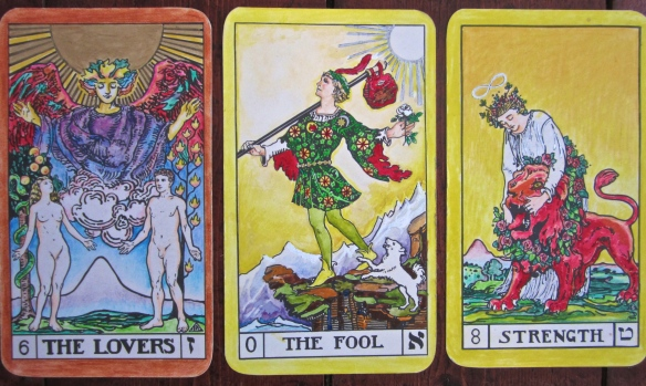 the Fool with Lovers & Strength