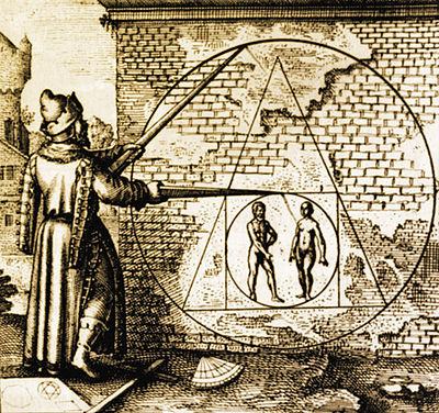 squaring the circle, old illustration