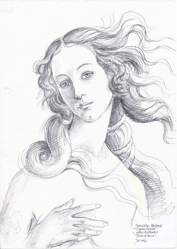 Aphrodite, after Botticelli (1992)