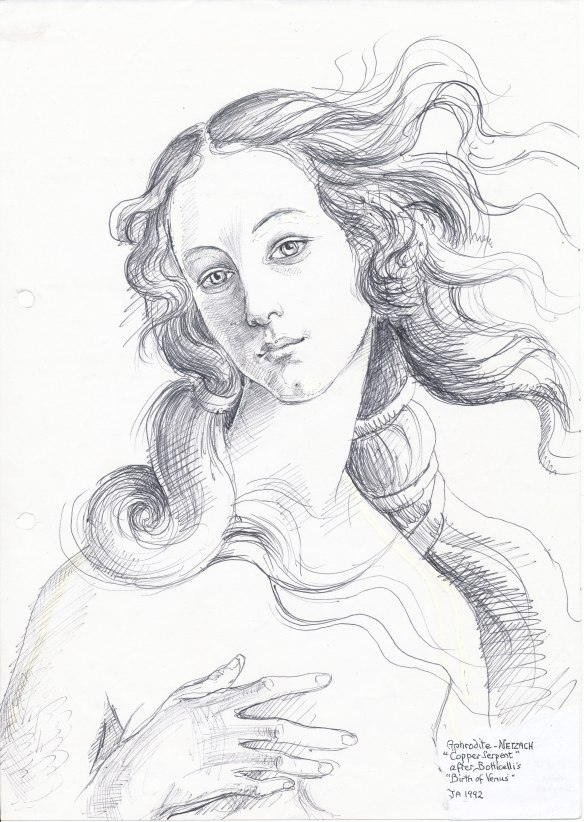 Aphrodite, after Botticelli (1992)