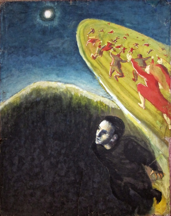 """Discovery"" - painted at school in 1963"