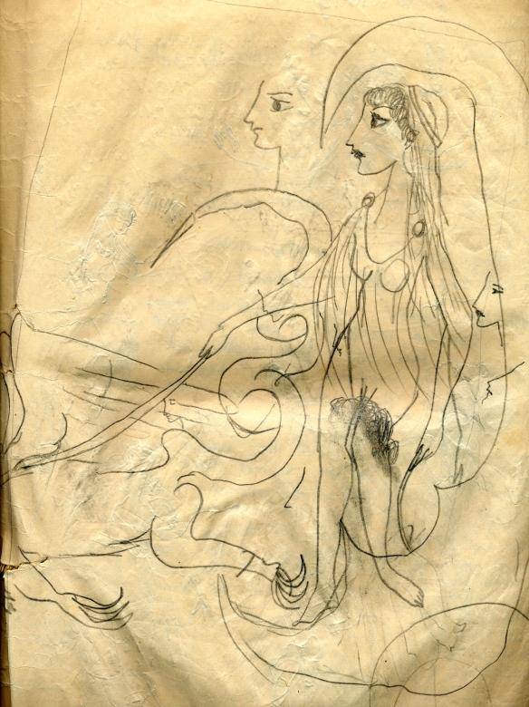 Goddess with Triton, 1957