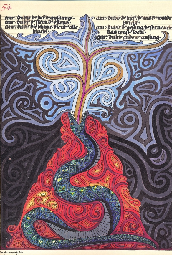 Serpent lava fountain Tree - in Jung's Red Book