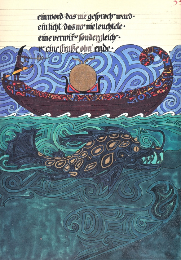 Painting by Jung:  the Sun-boat, or Fabulous Odyssey
