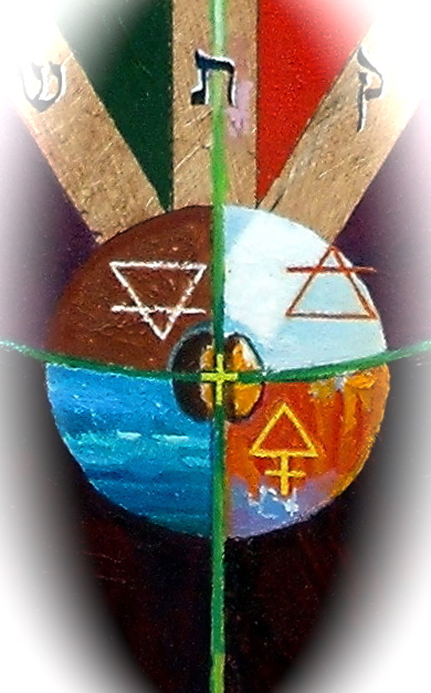 Detail: Malkuth, showing the four elements, the seed and the cross of nature