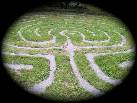 labyrinth in apothecary's garden
