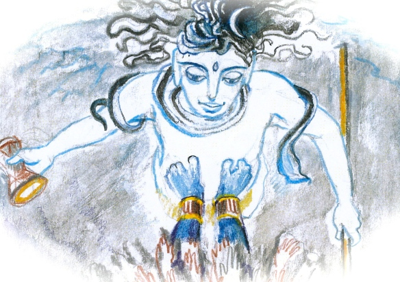 Sacred India Tarot 13, Siva & Kali  - detail