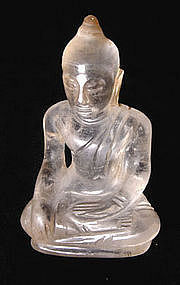 sukhthai rock crysal buddha, 15th century