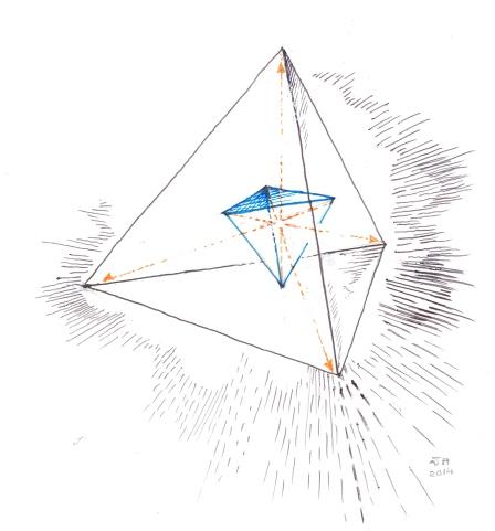 Butterfly/'s Journey of Metamorphosis Galaxy Chrysalis Star Tetrahedron