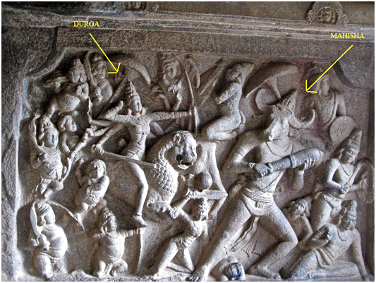 Durga shoots buffalo king